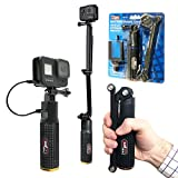 Vidpro PG-6X Rechargeable Battery Hand Grip with Folding Extension Bracket for GoPro Hero Action Cameras, Camcorders and Smart Phones. 5X Extended Run. Works with GoPro Max and Hero 8, 7, 6, 5 etc.