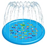 HXGCLC Sprinkler & Splash Play Mat for Kids, Wading Pool for Fun Games Learning Party Outdoor Water Sprinkler Juguetes de la A a la Piscina al Aire Libre para bebés para niños pequeños y niñas.