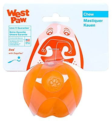 West Paw Jive Tough Dog Chew Toy Tangerine (Large)