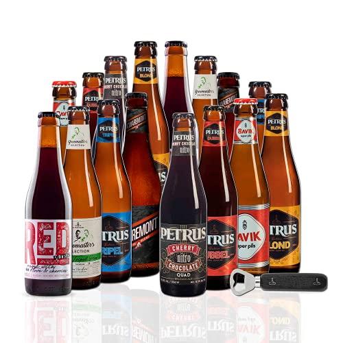 Pack Cervezas Belgas Petrus con abridor | x16. Brouwerij de Brabandere | Incluye Red by Petrus, medalla de plata en los WORLD BEER AWARDS 2020