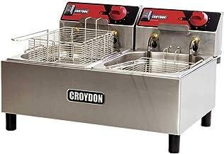 Fritadeira Elétrica 220V com 2 Cubas de 4,5 Litros FC2B - Croydon