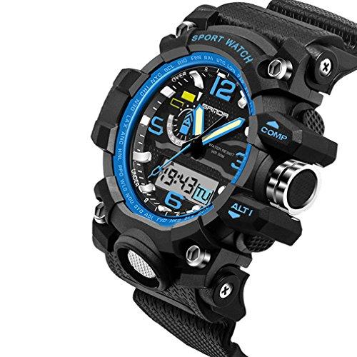 FENKOO Herren/Paar Sportuhr/Militäruhr/Smart Uhr/Modeuhr/Armbanduhr digital/Japanischer QuartzLED/Chronograph/Wasserdicht /