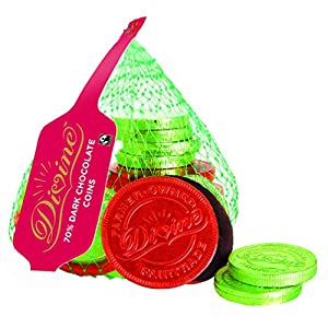 divine 70 percent dark chocolate coins, 65 g Divine 70 Percent Dark Chocolate Coins, 65g 51YW19DLXSL