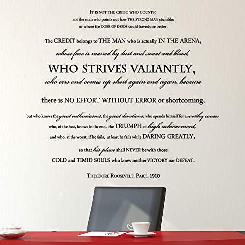 Vinilo adhesivo para pared con citas de hombre presidente inspiradoras para oficina y oficina