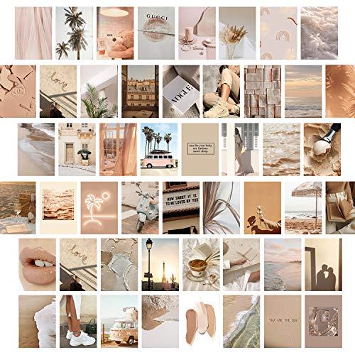 myDreamwork - Premium Wandcollage, Bilder Set 50er, Ästhetik, Poster Mädchen, Collage Kit | Stilvolles Bilderset für das Wohnzimmer | 50 Stück 10,5x14,6cm | VSCO Girl | Handsortiert, Made in Germany