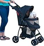 Pet Gear Happy Trails Pet Stroller for Cats/Dogs, Easy Fold with Removable Liner, Storage Basket (PG8030NZJGA)