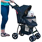 Pet Gear Happy Trails Pet Stroller for Cats/Dogs, Easy Fold with Removable Liner, Storage Basket (PG8030NZJGA) 7