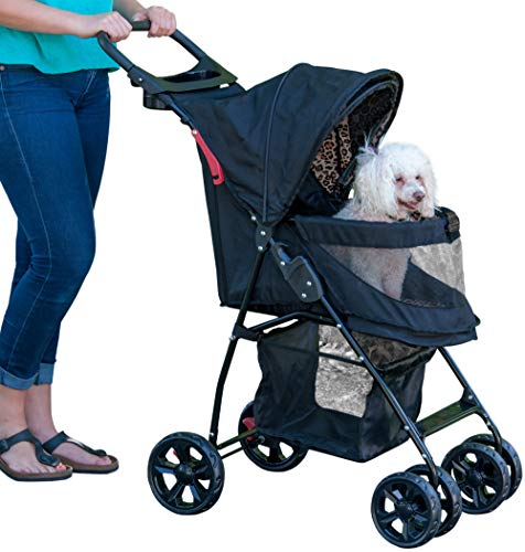 Pet Gear Happy Trails Pet Stroller for Cats/Dogs, Easy Fold with Removable Liner,...