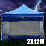 BXzhiri Outdoor Sun Protection Folding Tent Shed, Rain Cloth Shelter Cover, Tent Accessories 2X12M (Without Tent roof and Stand)