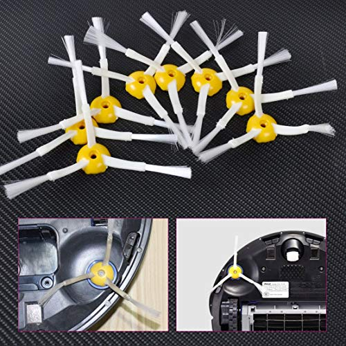 ZILMAKO New 6Pcs 3-Armed Side Brushes Replacement PC & TPEE & Nylon for iRobot Roomba 500/600/700 Series 560 570 630 650 760 770 780 790