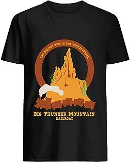 Big Thunder Mountain Railroad Tshirt Hoodie for Men Women Unisex