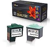 Set de cartuchos de tinta alternativa para Lexmark 80D2126 / 80D2952 (No. 16 + 26/17+ 27) X1170 X1180 X1185 X1190 X1195 X1196 X1200Series X1240
