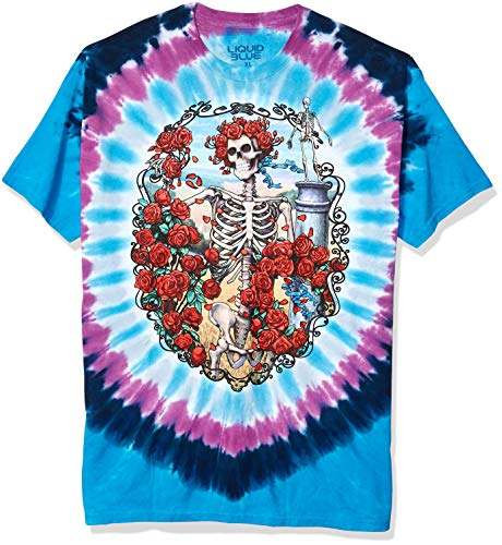 Liquid Blue Men's Grateful Dead 30Th Anniversary Short Sleeve T-Shirt,Multi,X-Large