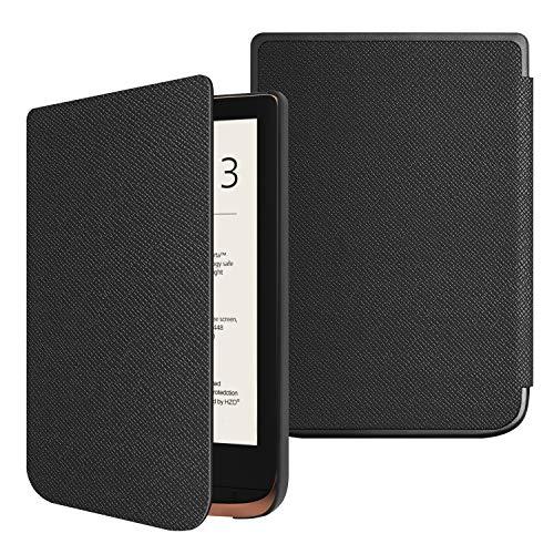 Fintie Hülle für Pocketbook Touch HD 3 / Touch Lux 4 / Touch Lux 5 / Basic Lux 2 / Color (2020) e-Book Reader - Superdünne Schutzhülle mit Auto Aufwachen/Schlafen, Magnetverschluss, Schwarz