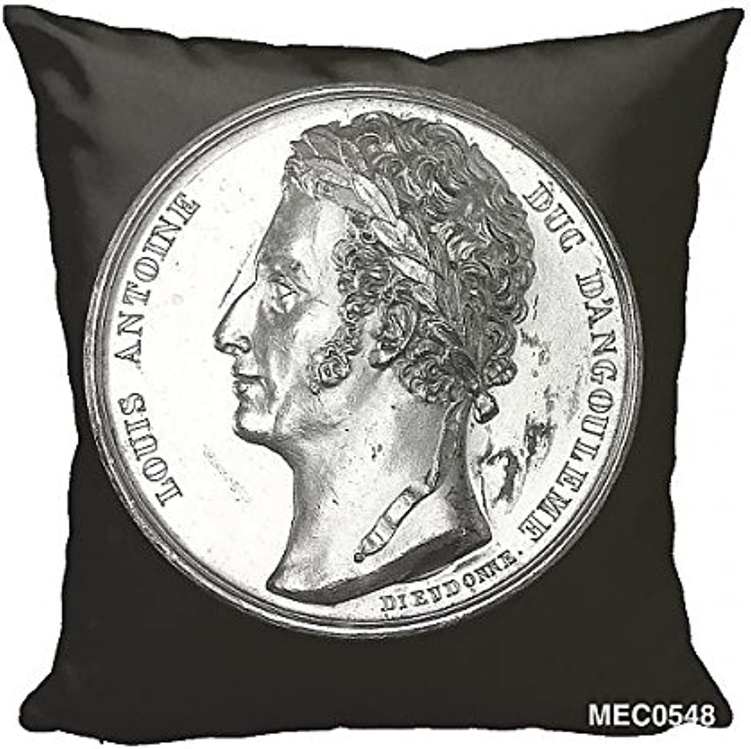 12x12 Cushion of Medal commemorating Admiral Duc d Angoulme and the capture of Cadiz, 1823 (3686054)