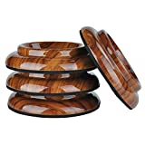 PUNK ABS Upright Piano Caster Cups Set of 4 Slip Resistant Leg Protector (Rosewood)