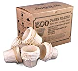 canFly Unbleached Disposable K-CUP Paper filters for Keurig single cup coffer filters compatible with Ekobrew, EZ-Cup and other Reusable K-CUP Filters (300 Count)