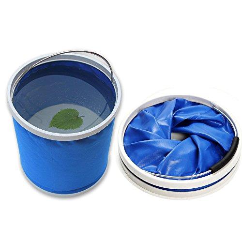 Cubo plegable DYBOHF Cubeta de agua portátil Multiuso - Apto para acampar, Deportes al aire libre, Uso doméstico, Cubo de agua para lavado de autos Capacidad - Ligero y fácil de transportar (11L)