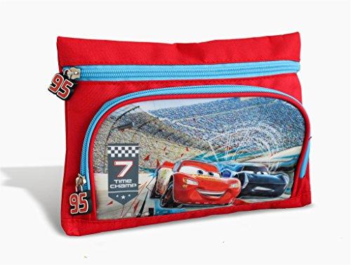 M.C. srl Astuccio Due Cerniere con Tasche Cars Disney