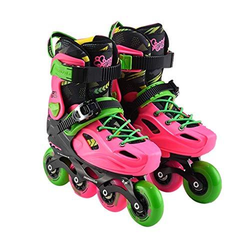 Taoke Roller Skates, Skate-Satz, Flashing Pulley Schuhe, Kinder Inline Skates, Anfänger Roller Skates (Farbe: Rosa, Größe: L (36-39 Meter) 10-14) dongdong (Color : Pink, Size : L (3639 Yards) 1014)