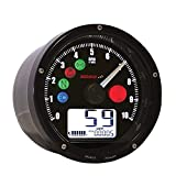 Koso BA035K00-HD Black Multifunction Speedometer (Harley Davidson Version)