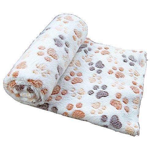 gossipboy Paw Design Decke Pet Kleine Hund Katze Bett weiche warme Schlafen Matte Puppy Kitten Weiche Decke Doggy Warm Bettwäsche, Steppdecke Matte mit Hundemotiv