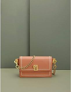 Cross Body Handbags Chain small bag female new slung summer handbags leather shoulder small square bag (Color : Orange)