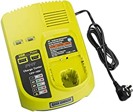P117 Dual Chemistry 12V 14.4V 18V Battery Charger Replacement for Ryobi Charger ONE+ P117 P118 P119 Lithium-Ion NiCd NiMh Battery P100 P101 P102 P103 P105 P107 P108 BPL-1815 BPL-1820G BPL18151 BPL1820