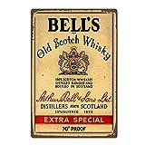 Hunnry Bell's Old Scotch Whisky Poster Metall Blechschilder