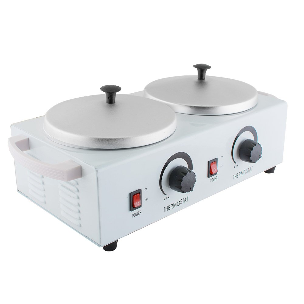 Double Wax Warmer Professional Electric Pot Dual Heater Hot ショッピング ファクトリーアウトレット Faci