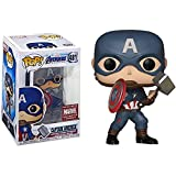 Serie De Películas Pop Figura De Vinilo Juguetes Endgame # 481 Capitán América (con Mjolnir) Figura De Acción Modelo Decoración Muñeca Juguetes Regalos para Niños