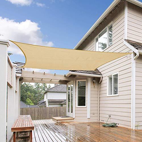 Sun Segel Sonnensegel für Garten Terrasse Camping UV Schutz PES Wasserabweisend HDPE 2x2m