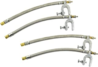 Kesoto 4 peças de conector de extensão de haste de válvula de ar para carro, motocicleta, caminhão, RV