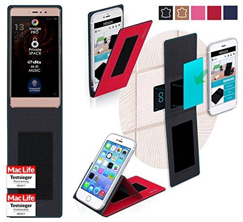 reboon Hülle für Allview X3 Soul Style Tasche Cover Case Bumper | Rot | Testsieger