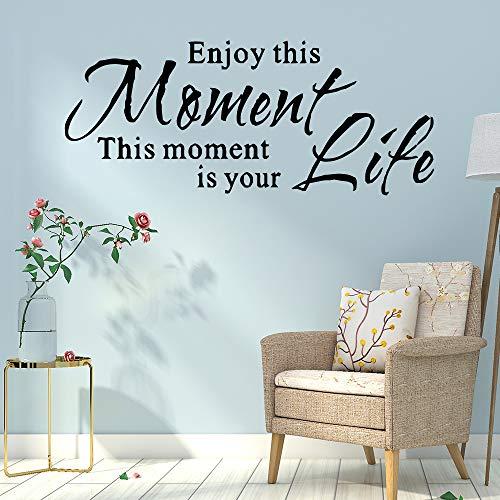 sxh28185171 Disfruta de Este Momento Etiqueta de la Frase de la Vida Etiqueta de la Sala de Estar Etiqueta de la Pared calcomanía de Vinilo Papel tapizM 20cm X 47cm