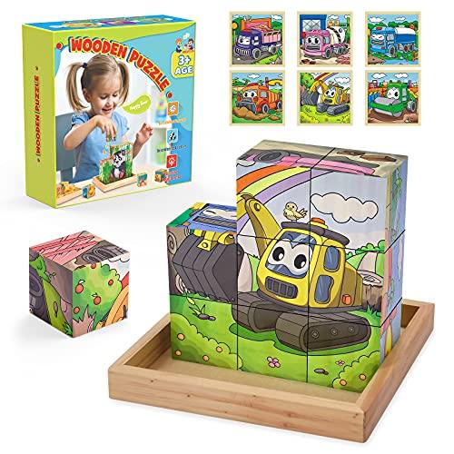 Juguetes Niños 2 3 4 5 6 7 8 Años,Puzzle Madera Regalo Niño 2-10 Años Juguetes Montessori 1-4 Años Regalos de Comunion para Niños Regalos Niña 3-9 Años Puzzle 3d Juguetes Madera Puzles 4 A 5 Años