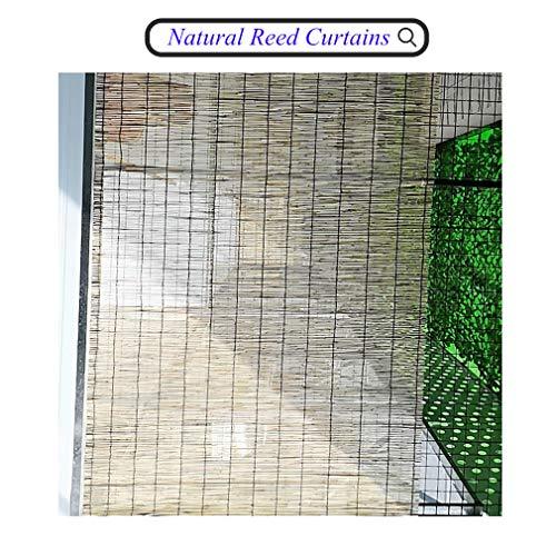 HRD Schilfvorhänge,Fenster Sichtschutz Rollos, Fensterläden Für Garten/Veranda/Pool, Reed Roll Up Rolläden - Hängende Verzierung
