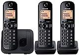 Panasonic KX-TGC213E DECT Identificador de llamadas Negro - Teléfono (Teléfono DECT, Polifónico, Negro, Gato, DAN, Alemán, Holandés, Inglés, Español, FIN, Francés, GRE, Italiano, NOR, Portugués, SWE, TUR, LCD, 103 x 65 Pixeles)