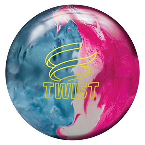Brunswick Bowling Twist Reactive Ball, Sky Blue/Pink/Snow, Size 9