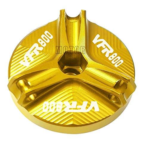 LIWIN Motoraccessoires For Honda VFR800 / VFR800F / VFR 800 VTEC/Fi / W1 Motorcycle M20 * 2,5 CNC Aluminium Motorolie Cap Plug Oil Filler Cup Cover Bolt Screw (Color : Gold)