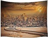 Kairo Ägypten Wandteppich, größte Stadt in Afrika Malerische Landschaft, Wandteppiche Wandteppiche 60X40 Zoll