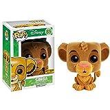 - Figurine Disney - Le Roi Lion Simba Flocked Exclu Pop- Matière PVC- Vendu en window box- Taille