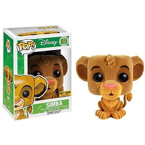 Funko POP! Disney: El rey león: Simba con pelo de peluche Exclusivo