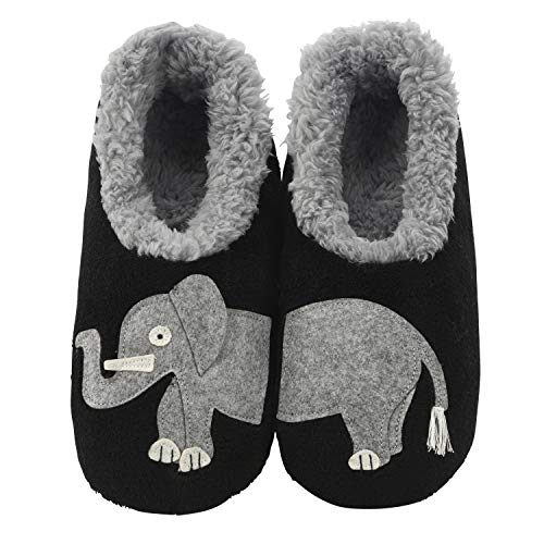 Snoozies Pairables Womens Slippers - House Slippers - Elephant - Large