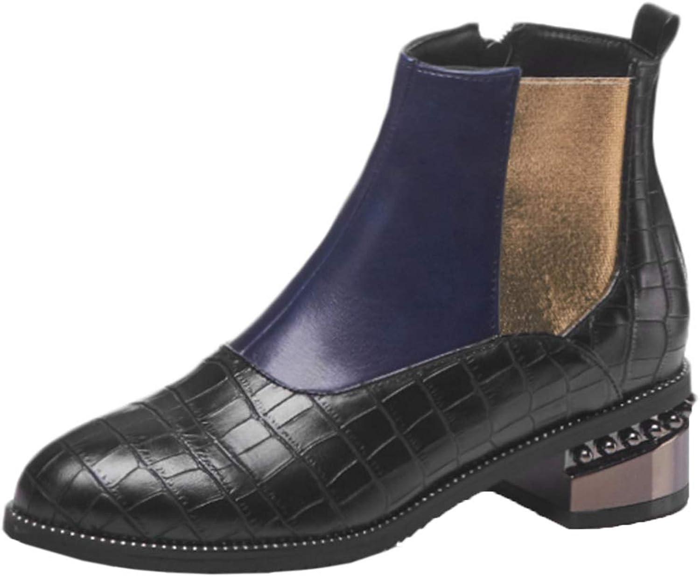 Vitalo Womens Low Heel Chelsea Ankle Boots Ladies Autumn Winter Booties