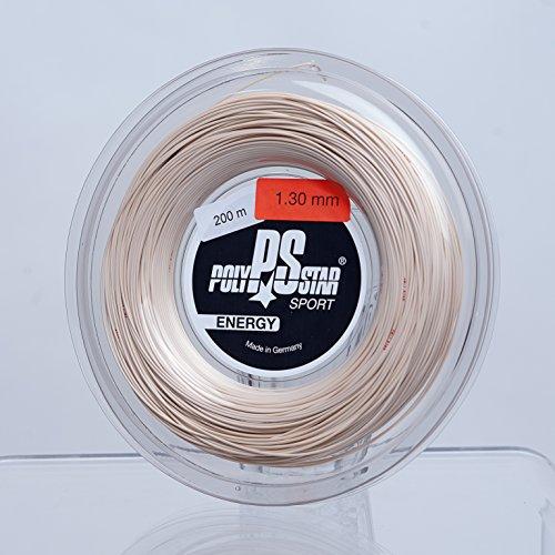 Polystar Energy, Corde da Tennis Unisex-Adulti, Naturale, 200m Rolle, 1,30mm