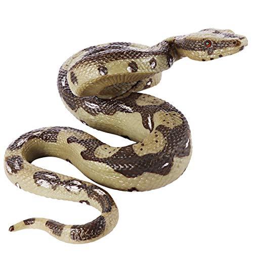 Amosfun realistische Schlange Spielzeug große Gummi Schlange Simulation Python-Modell das echte Streich Kobra Halloween Streich Spielzeug für Halloween Aprilscherz Tag Party Requisiten Aussehen