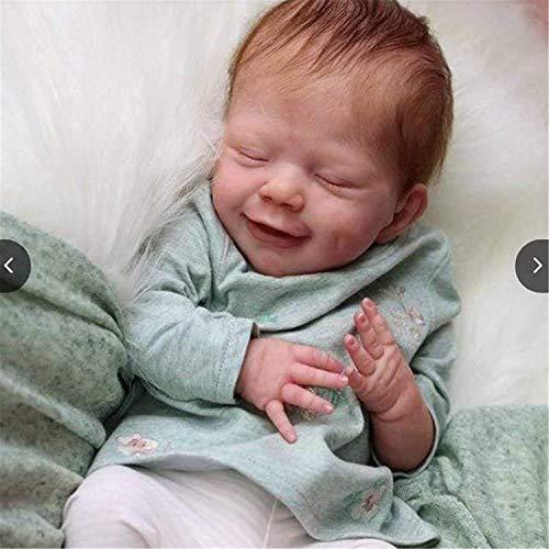 Baby Doll Reborn Dolls, 22 Pulgadas 55 cm Reborn Baby Girl muñecas Reborn realistas, bebé de Silicona Realista, Cuerpo Suave Realista para colección y Regalo