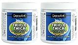 2-Pack Bundle - DecoArt Triple Thick Gloss Glaze (Jar) - 8-Ounces Each