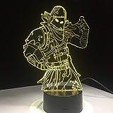 Raven Skins 3D LED Lampe 7 Farben Touch Schalter Tisch Schreibtisch Licht Lava Lampe Acryl Illusion Raumbeleuchtung Spiel Fan Remote Geschenke